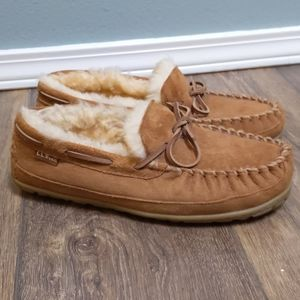 LL Bean Wicked Good sheepskin slippers 10 NEW!